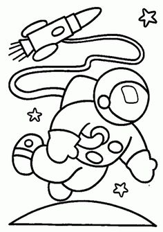 Astronaut Coloring Pages For Preschool at GetDrawings.com ...