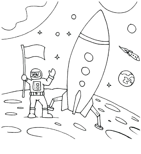 600x654 Astronaut Coloring Pages Astronaut Coloring Pages Sheet