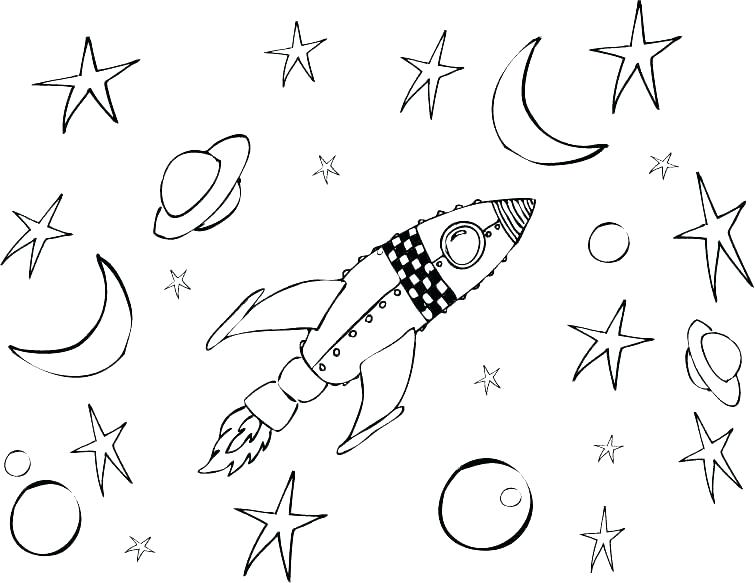 755x583 Astronomy Coloring Pages Outer Space Coloring Pages Stock Outer
