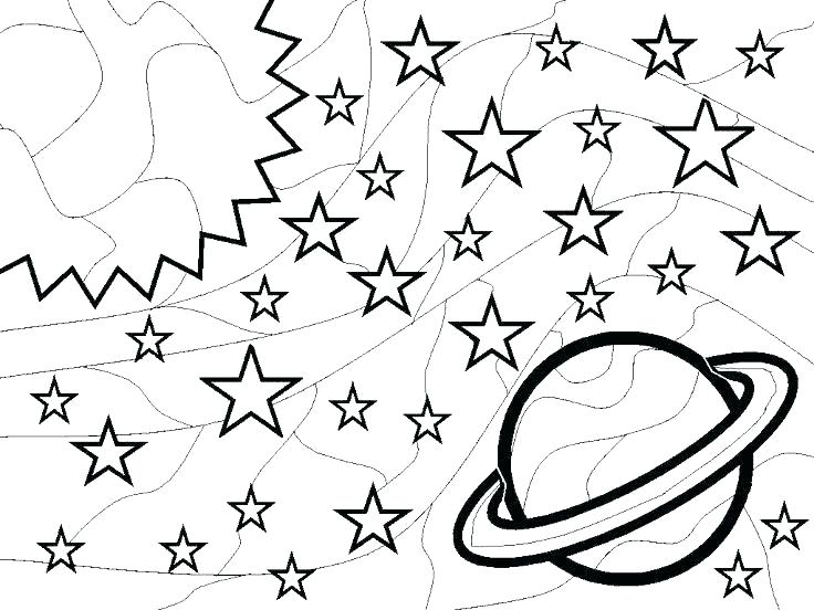 736x552 Outer Space Coloring Page