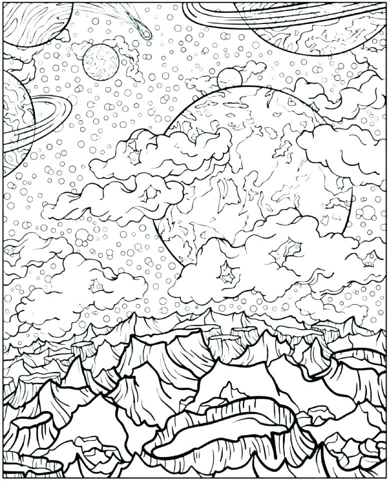 Space Coloring Pages Free - Coloring Home | 960x777