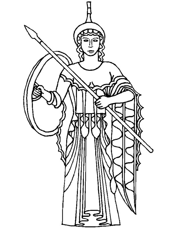 600x800 Athena From Greek Gods And Goddesses Coloring Page