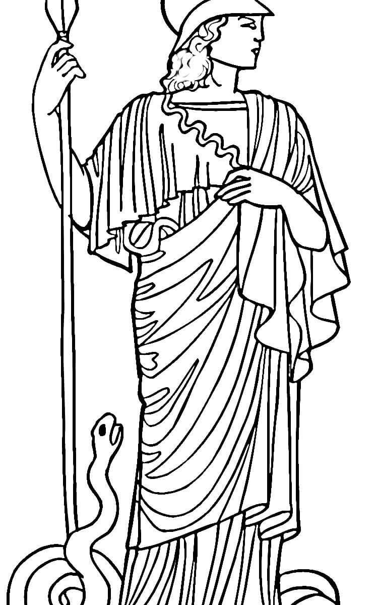 750x1200 Beautiful Greek Gods Coloring Pages Athena Pattern