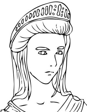 300x388 Easy Zeus Face Coloring Figure Of Goddess Athena From Greek