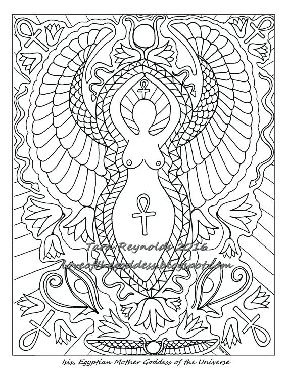570x733 Goddess Coloring Pages Fairy Coloring Pages For Adults Athena