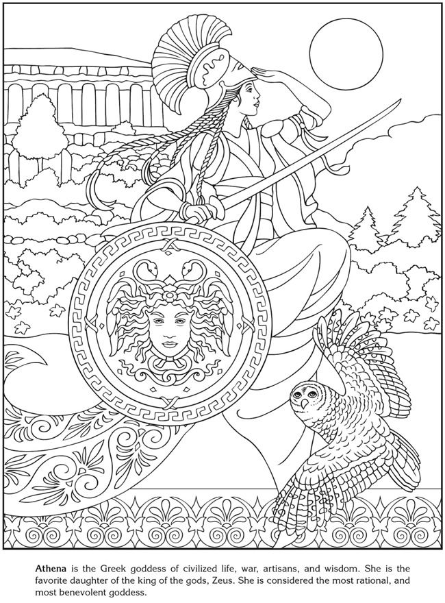 Athena Coloring Pages At Getdrawings Free Download