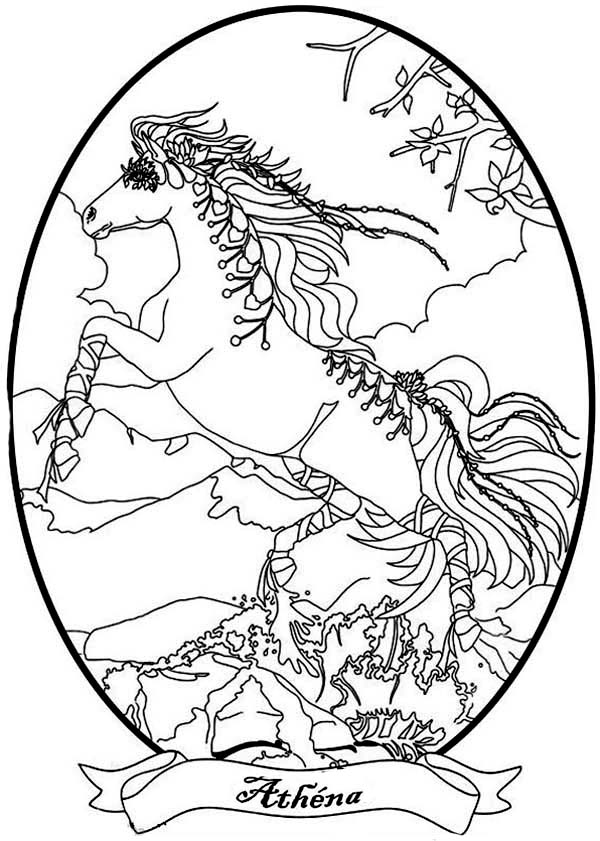 600x841 The Strong Horse Athena From Bella The Magical Horse Coloring