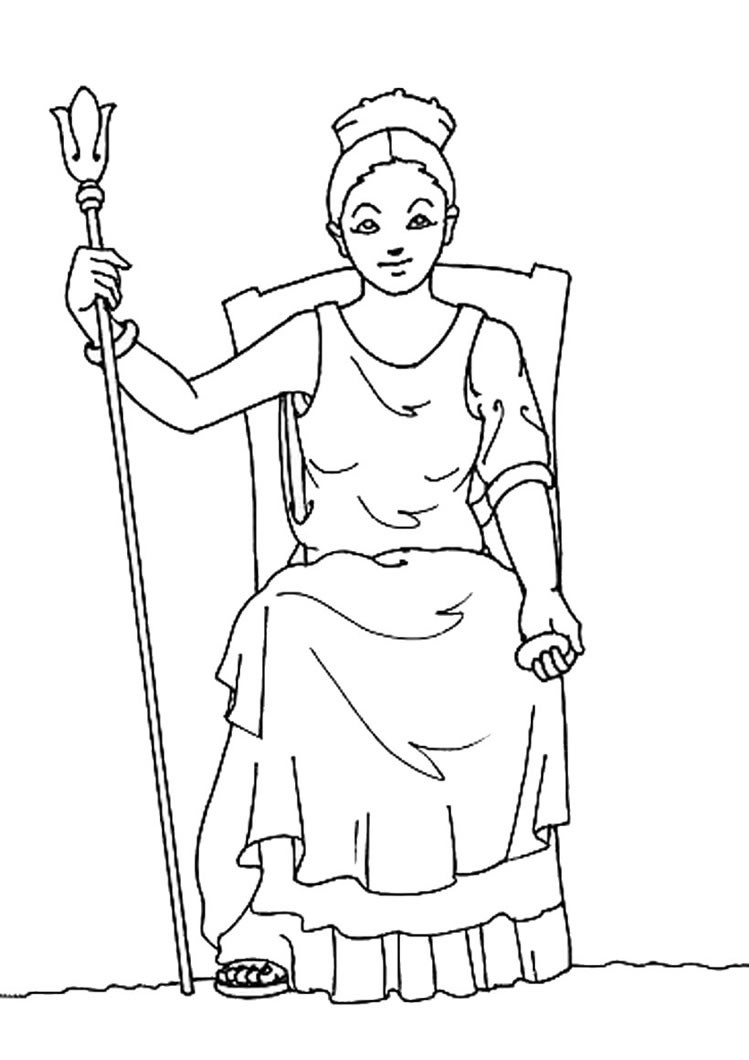 749x1060 Goddess Hera Coloring Pages