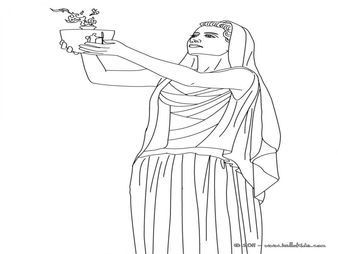 1280x960 Greek Goddess Aphrodite Coloring Pages Goddesses Hestia