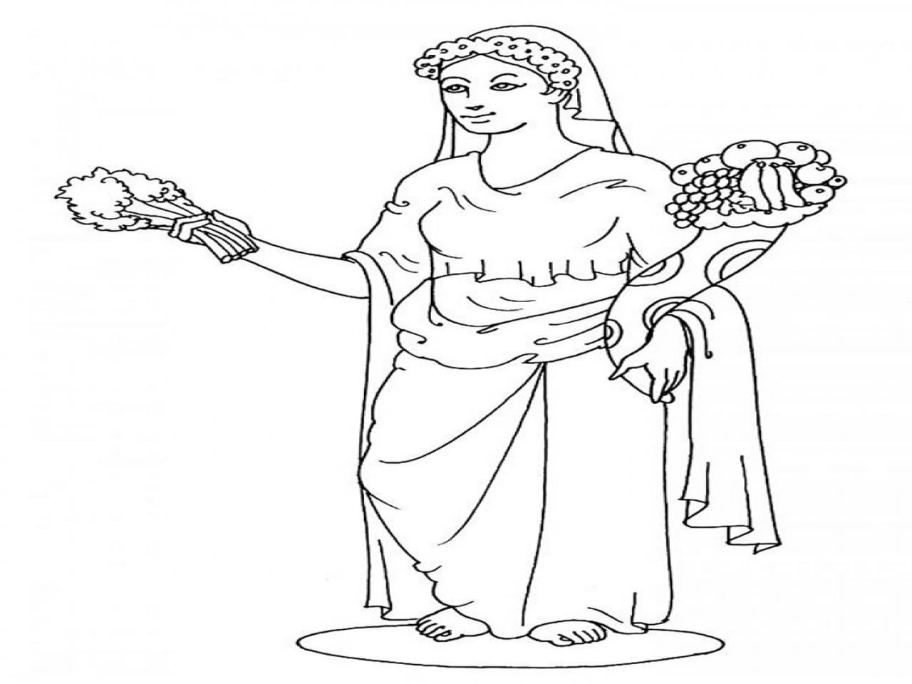 1280x960 Greek Goddess Coloring Pages Goddesses Demeter