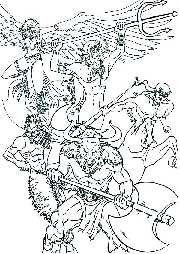 600x849 Greek Gods Coloring Pages Mythology An Artistic Book