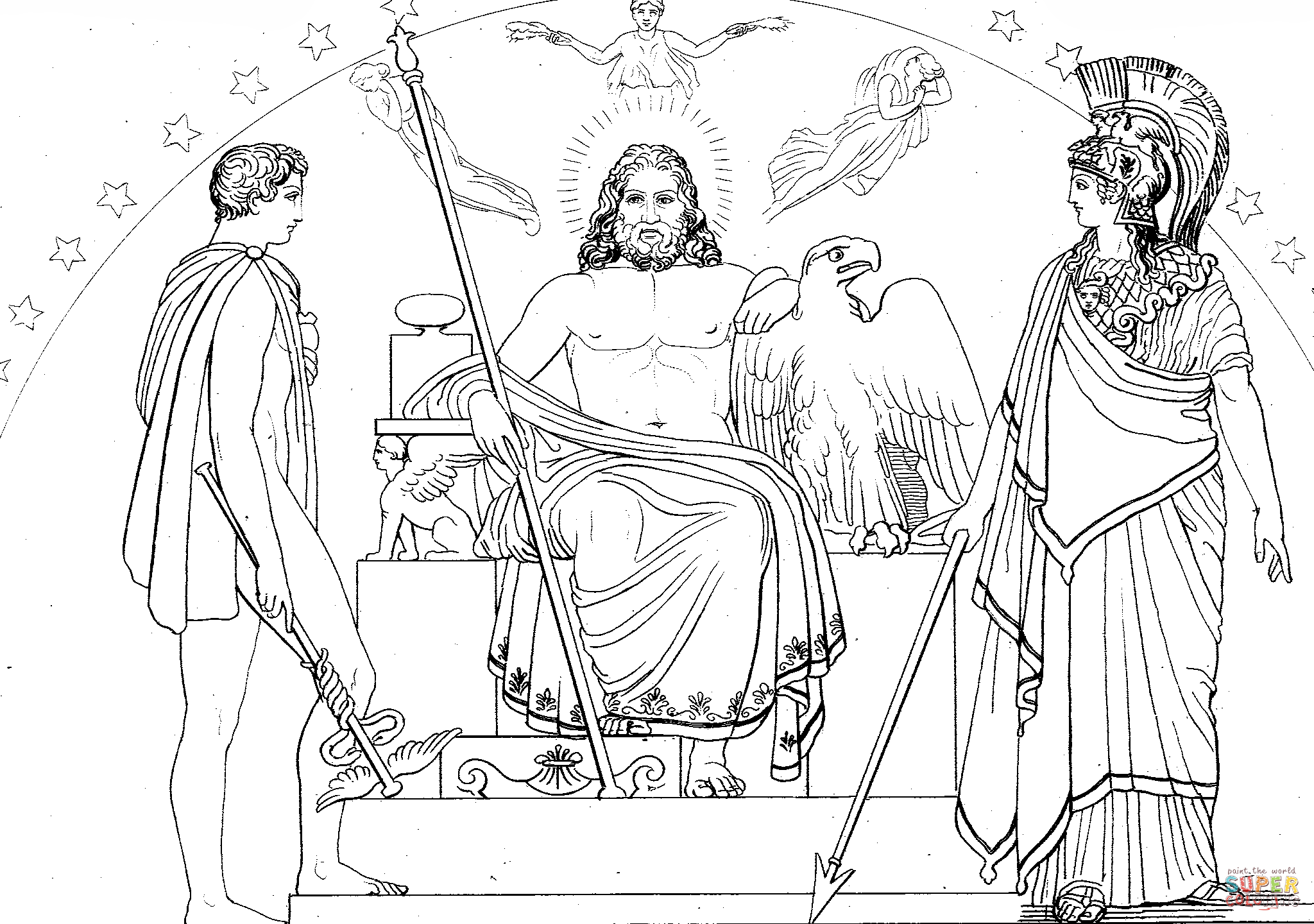 2048x1440 Astounding Athena Coloring Page For Kids With Spear Pages Goddess