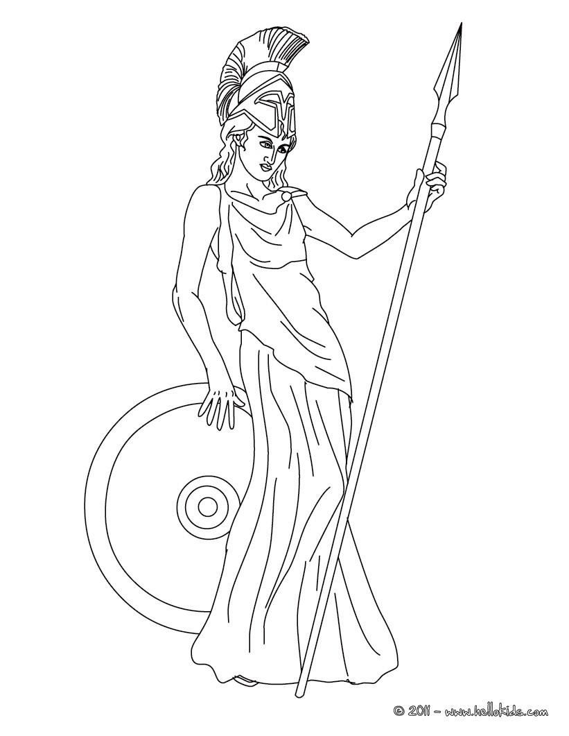 821x1061 Kleurplaat Athena The Greek Goddess Of Wisdom Coloring Page