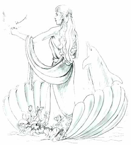 432x480 Greek Goddess Coloring Pages