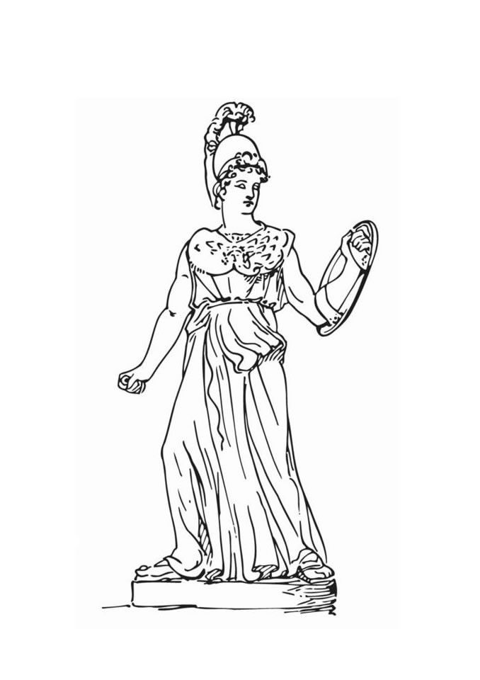 Athena Greek Goddess Coloring Pages At Getdrawings Com Free For
