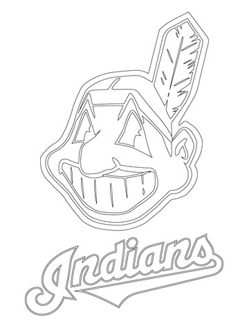 360x480 Clevelend Indians Logo Coloring Page