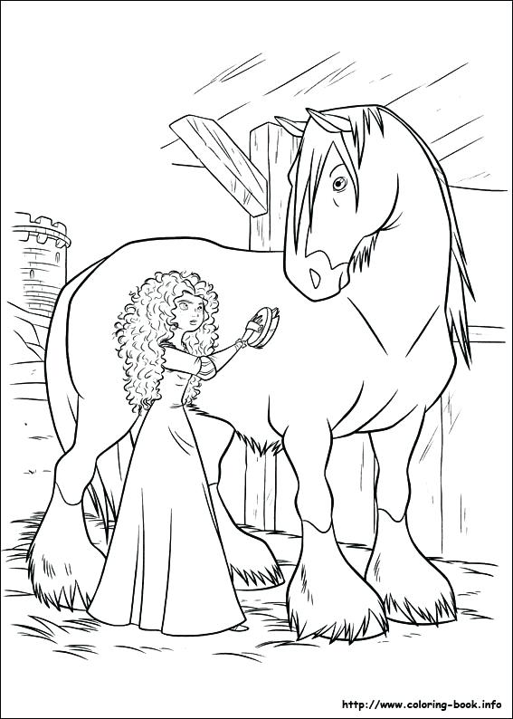 567x794 Coloring Pages Brave Princess In Brave The Movie Coloring Pages