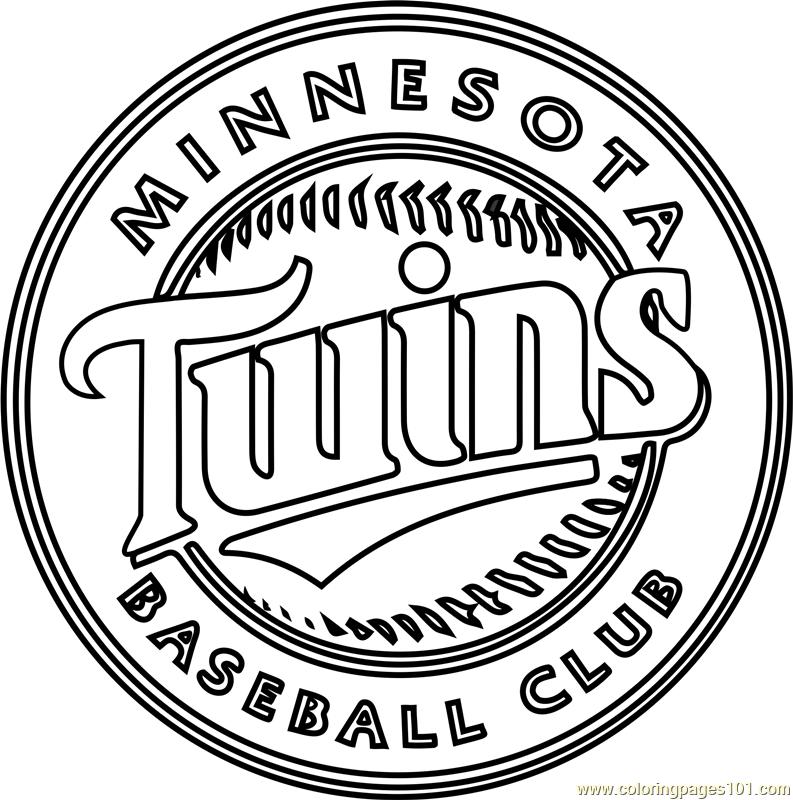 793x800 Minnesota Twins Logo Coloring Page