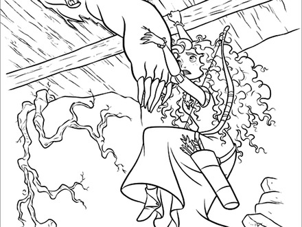 440x330 Coloring Pages Brave, Best Images Of Disney Brave Printable