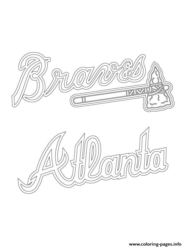 640x853 Atlanta Braves Logo Mlb Baseball Sport Coloring Pages Printable