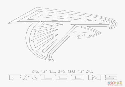 500x350 Atlanta Falcons Coloring Pages Beautiful Atlanta Falcons Logo