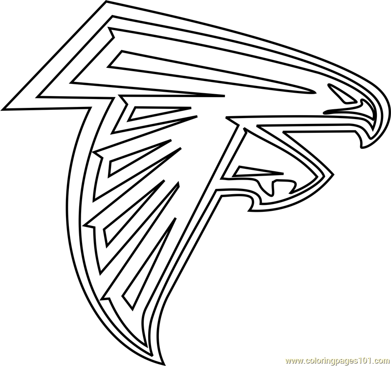 800x750 Atlanta Falcons Logo Coloring Page