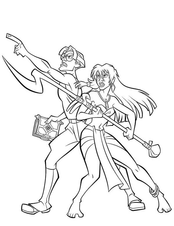 600x776 Atlantis The Lost Empire Couple Milo And Kida Coloring Pages