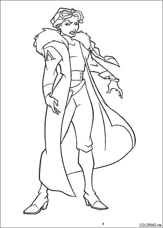 567x794 Coloring Page Atlantis, The Lost Tales Helga Sinclair