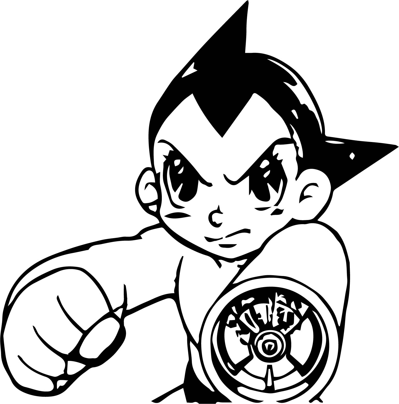 1541x1559 Astro Boy Tetsuwan Atom Manga Bang Coloring Page Wecoloringpage