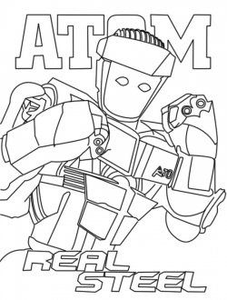 250x330 Real Steel Atom Coloring Pages Real Steel Robots