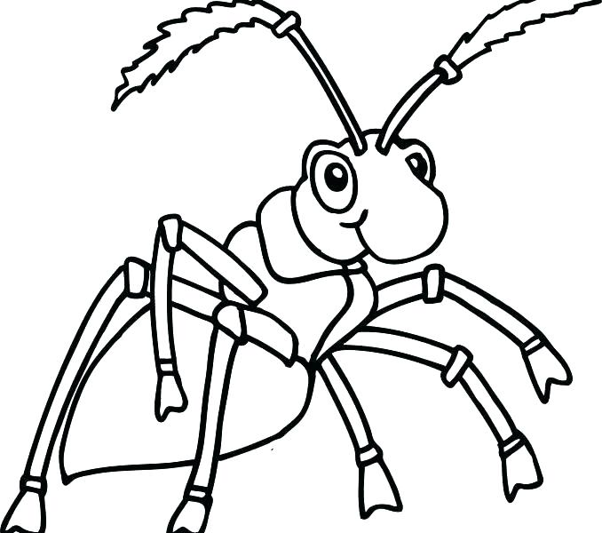 678x600 Ant Coloring Pages Ant Coloring Page Printable Atom Ant Coloring
