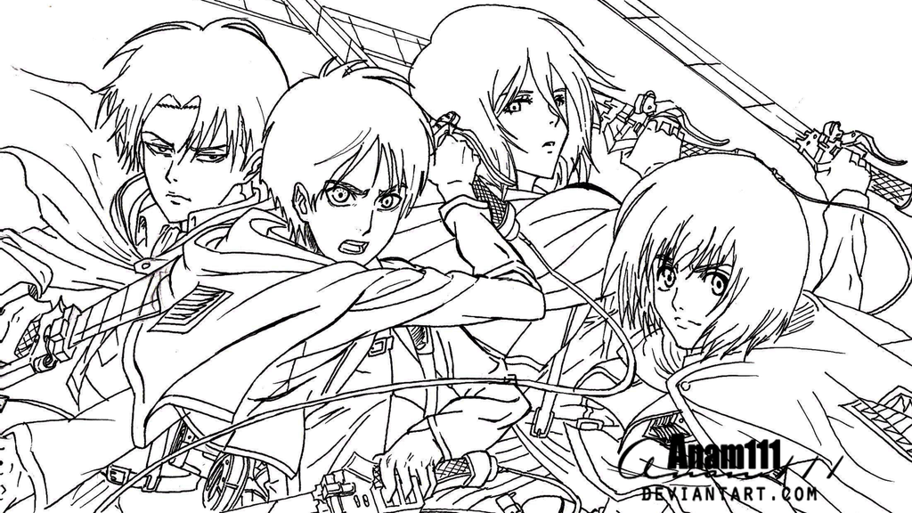 1024x576 Attack On Titan Levi Coloring Pages, Levi Attack On Titan Anime