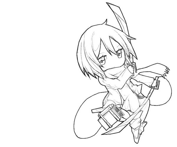 600x500 Attack On Titan Chibi Coloring Pages Lineart Shingeki No Kyojin