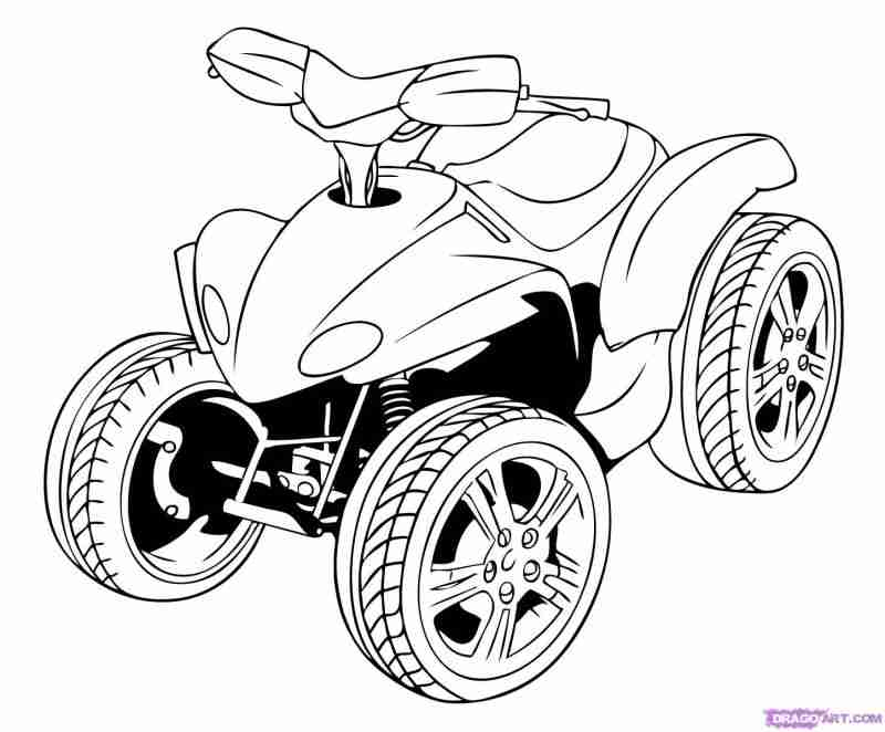 800x662 Best Four Wheeler Coloring Pages With Additional Magnificent