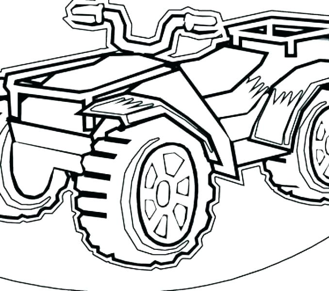 678x600 Wheeler Coloring Pages Four Wheeler Coloring Pages Four Wheeler