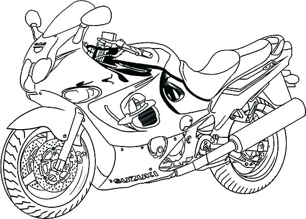 600x429 Four Wheeler Coloring Pages Motorcycle Coloring Pages Wheeler