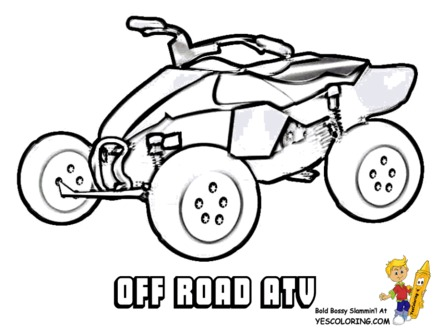 440x330 Four Wheeler Coloring Pages Pictures To Pin