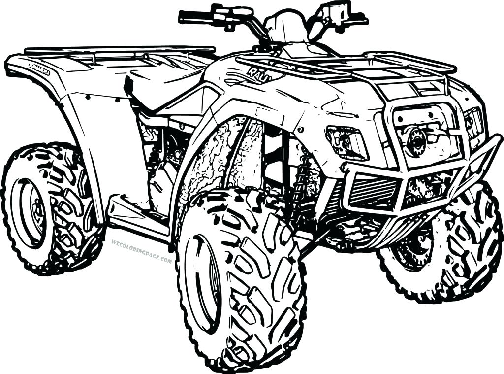 1024x759 Great Four Wheeler Coloring Pages About Remodel Seasonal