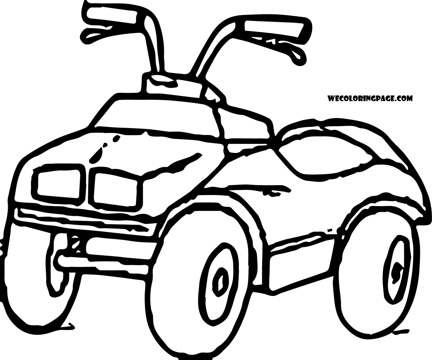 1445x1203 High Tech Four Wheeler Coloring Pages