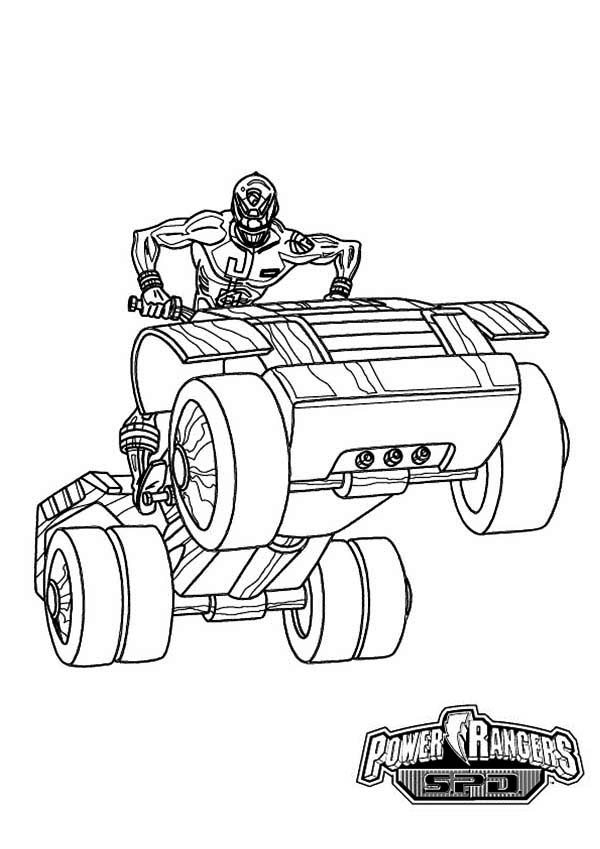 600x849 Power Rangers Spd Ride An Atv Coloring Page For Kids Color Luna