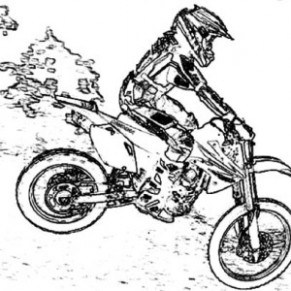 291x291 Riding On Atv Coloring Page Free Printable Coloring Pages