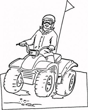 Atv Coloring Pages At Getdrawings Com