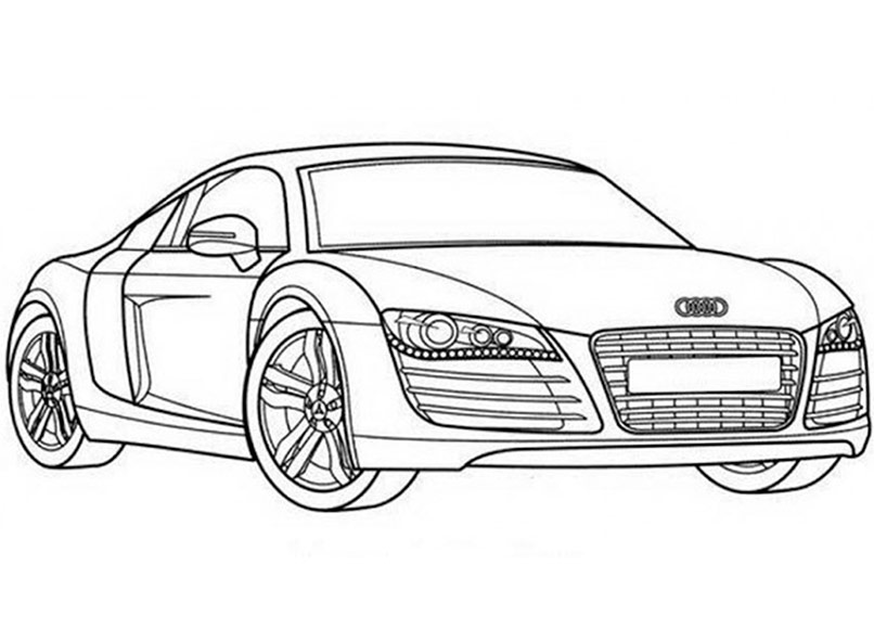 Audi R8 Coloring Pages At Getdrawings Com