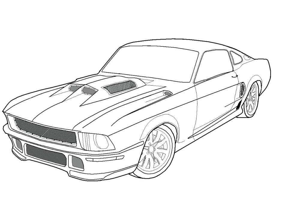 940x705 Cool Car Pictures To Color