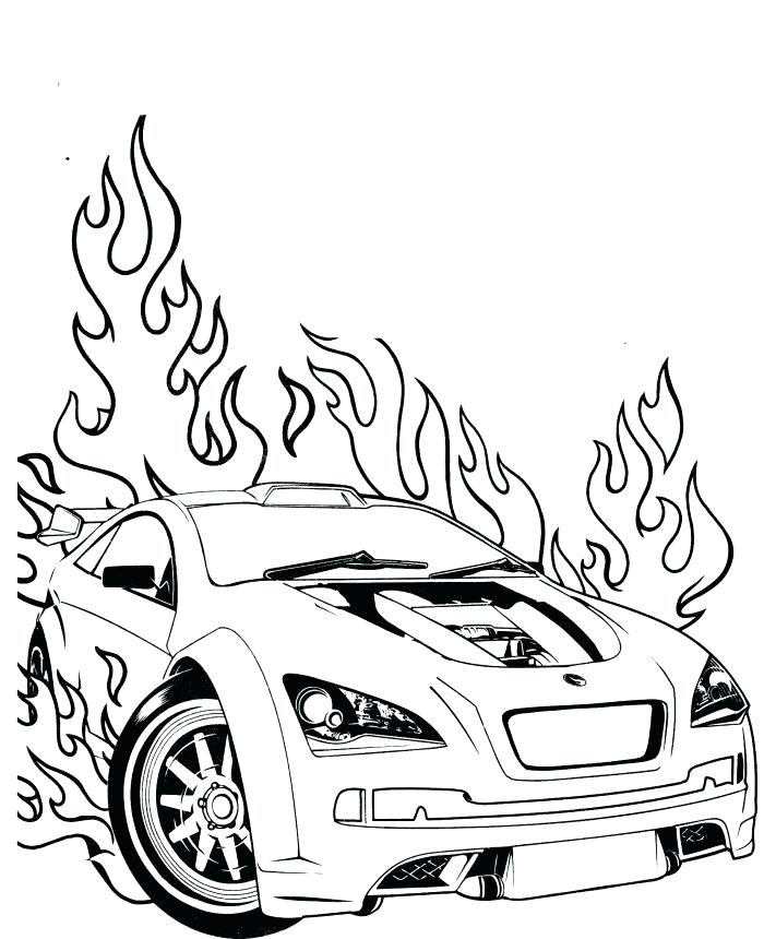 700x860 Sports Cars Coloring Pages