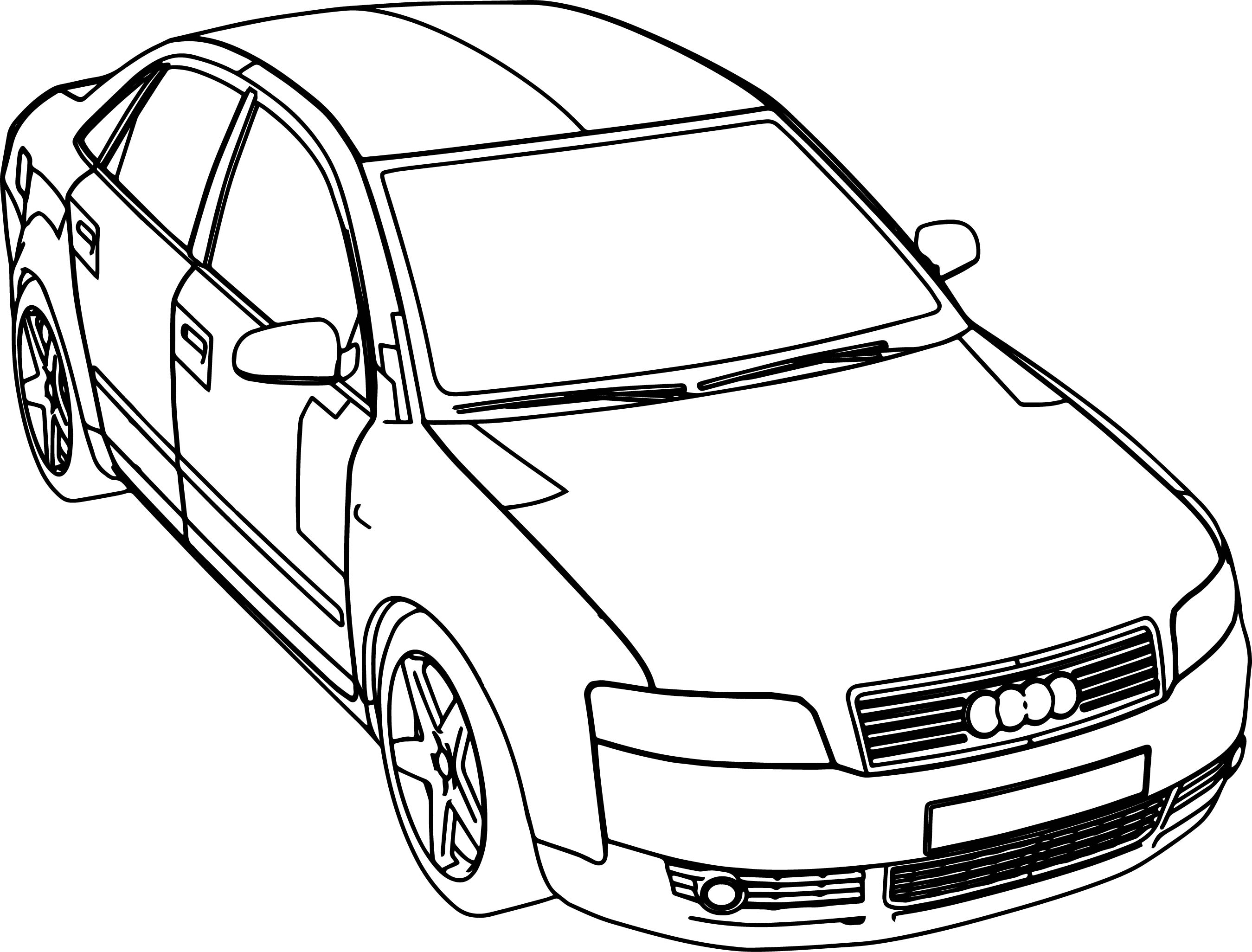 2699x2052 Audi Coloring Pages