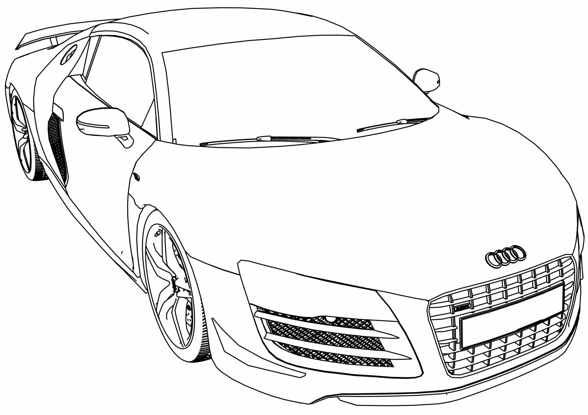 1927x1362 Audi Gt Car Coloring Page Wecoloringpage