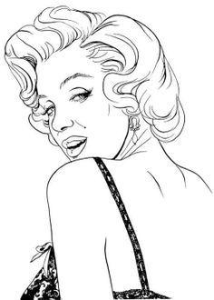 236x330 Dibujos De Marilyn Monroe Para Colorear Y Pintar Artistas