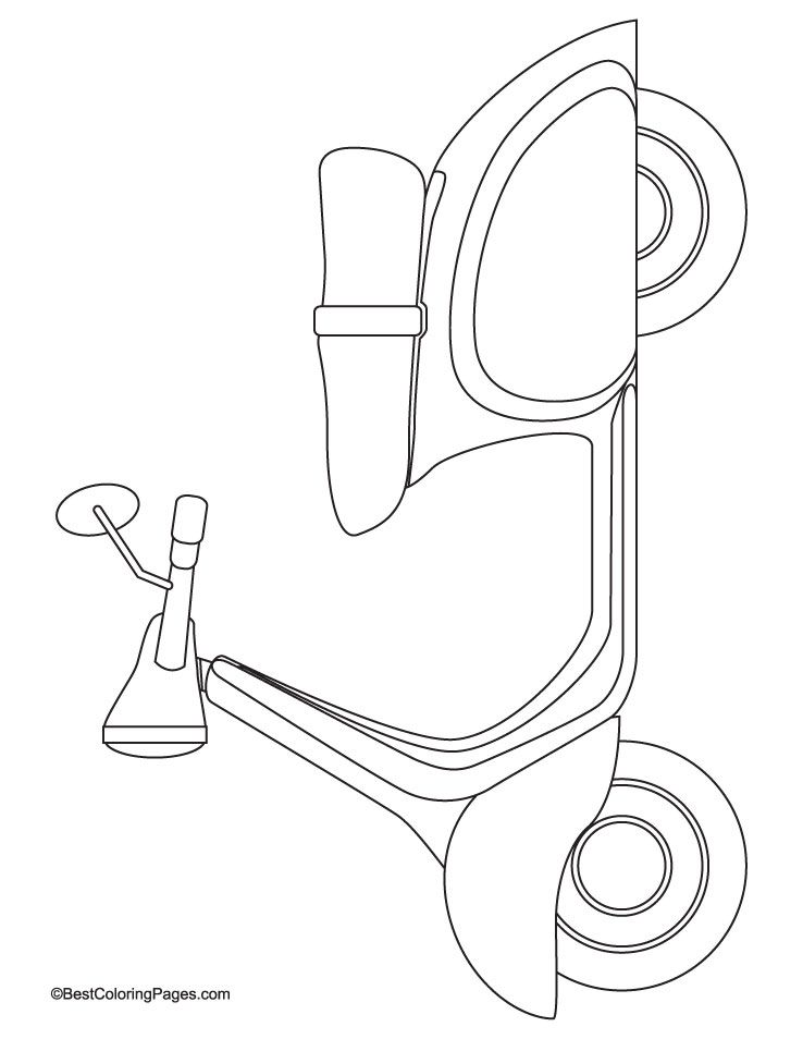 738x954 Scooter Coloring Page Download Free Scooter Coloring Page