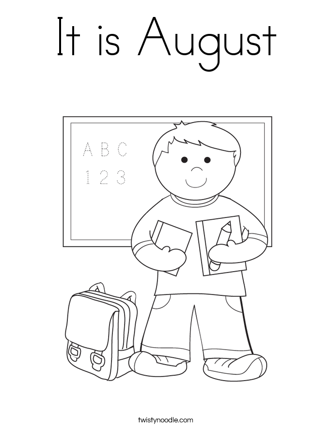685x886 It Is August Coloring Page